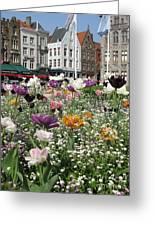 Brugge In Spring Greeting Card
