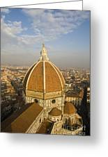 Brunelleschi's Dome At The Basilica Di Santa Maria Del Fiore Greeting Card