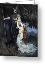 Brunhilde Knelt At His Feet, From The Greeting Card