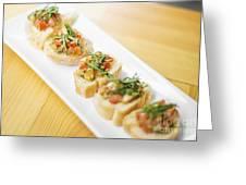 Bruschetta Italian Starter Dish Greeting Card
