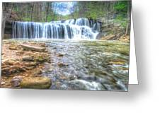 Brush Creek Falls Located In West Virginia Greeting Card