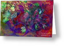 Brushing Circles  Greeting Card