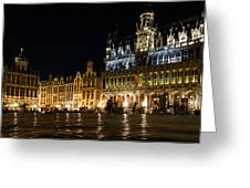 Brussels - The Magnificent Grand Place At Night Greeting Card