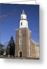 Bruton Parish Church In Colonial Williamsburg Greeting Card