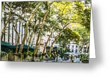 Bryant Park Midtown New York Usa Greeting Card