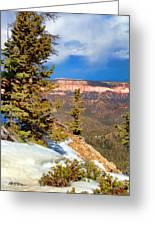 Bryce Canyon Cliff Shot 4 Greeting Card