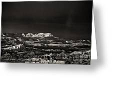 Bryce Canyon Formations In Black And White Greeting Card