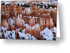 Bryce Canyon In Winter 2 Greeting Card