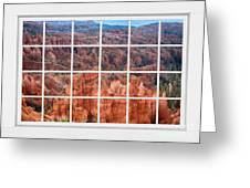 Bryce Canyon White Picture Window View Greeting Card