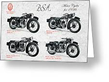 Bsa Motor Cycles For 1936 Greeting Card
