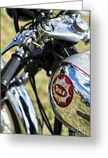 Bsa Rocket Gold Star Motorcycle Greeting Card