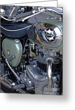 Bsa Motorcycle Greeting Card