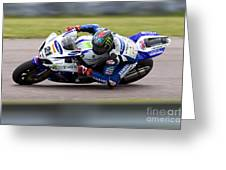 Bsb Superbike Rider John Hopkins Greeting Card