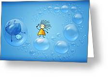 Bubble Folks Greeting Card
