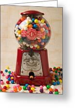 Bubble Gum Machine Greeting Card