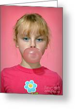 Bubble Gum Pink Greeting Card