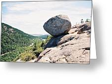 Bubble Rock Acadia National Park Maine Greeting Card
