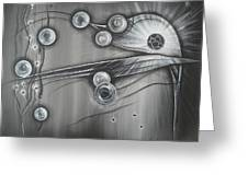 Bubbles In Grey Greeting Card