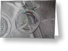 Bubbles In The Sink Greeting Card