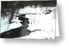 Bubbling Creek From Culvert In Spring Greeting Card
