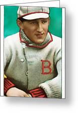 Buck Herzog Boston Braves Baseball Card 0500 Greeting Card by Wingsdomain Art and Photography