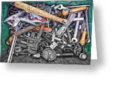 Bucket Of Tools Sc Greeting Card