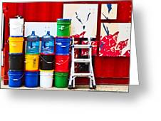 Buckets Of Color Greeting Card