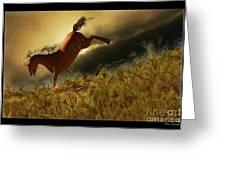Bucking Horse Greeting Card