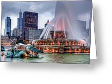 Buckingham Fountain - 2 Greeting Card