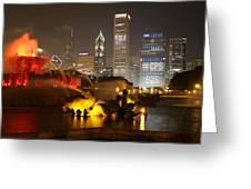 Buckingham Fountain Chicago Greeting Card