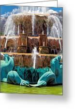 Buckingham Fountain Closeup Greeting Card