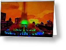 Buckingham Fountain Fantasy Chicago Il Greeting Card