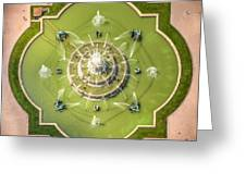 Buckingham Fountain From Above Greeting Card