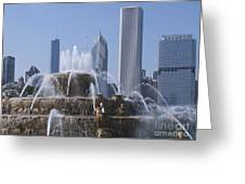 Buckingham Fountain Revisited Greeting Card