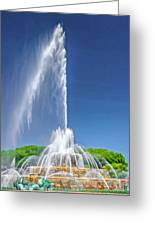 Buckingham Fountain Spray Greeting Card