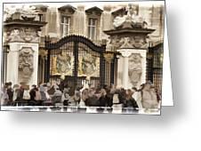 Buckingham Palace Gates Greeting Card
