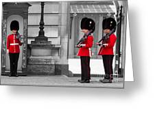 Buckingham Palace Guards Greeting Card
