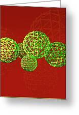 Buckyball Molecules Greeting Card