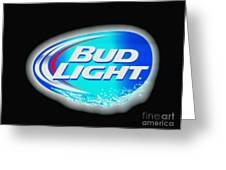 Bud Light Splash Greeting Card