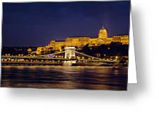 Buda Castle And Chain Bridge Greeting Card