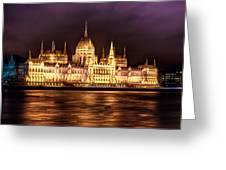 Buda Parliament  Greeting Card