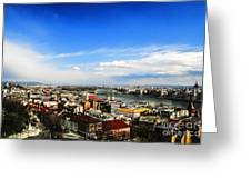 Budapest And Blue Danube Greeting Card