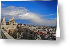 Budapest And Fisherman's Bastion Greeting Card
