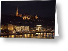 Budapest At Night Greeting Card