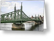 Budapest Bridge Greeting Card