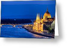 Budapest By Night Greeting Card