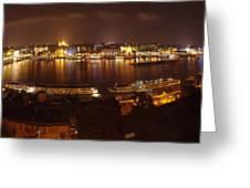 Budapest Night Panorama  Greeting Card