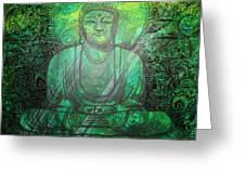 Budda's Garden Greeting Card