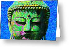 Buddha 20130130p0 Greeting Card by Wingsdomain Art and Photography