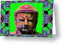 Buddha Abstract Window 20130130m180 Greeting Card